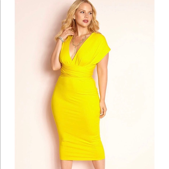 rebdoll Dresses | Yellow Dress Plus Size | Poshmark